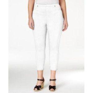 Style & Co Bright White Pull On Capri Pants 2X